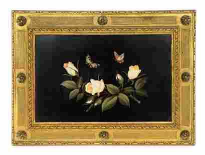 Pietra Dura Butterflies and Roses