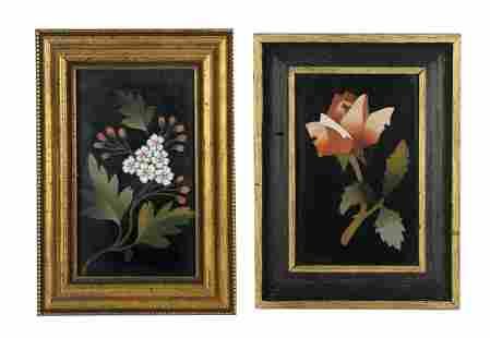 Two Pietra Dura Florals