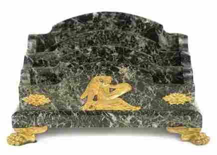 Marble & Bronze Letter Holder