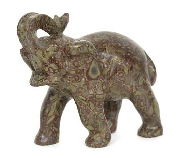 Thomsonite Carved Elephant
