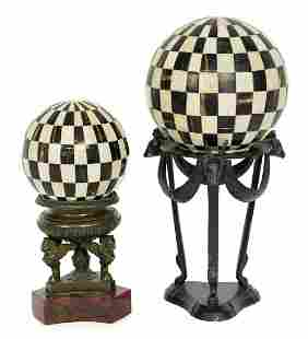 Inlaid Spheres on Stands