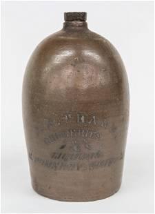 J.P. Franz Pomeroy Ohio Stoneware Jug