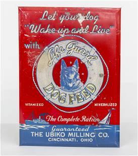 Life Guard Dog Food Tin Sign