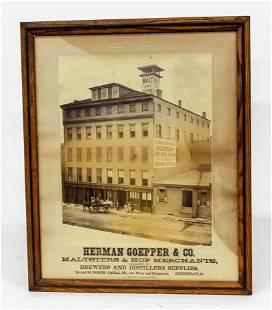 Cincinnati Brewer Supply Co. Albumen Photograph