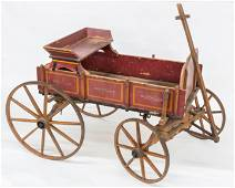 Rare Original Paint Decorated Goat Wagon