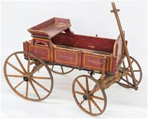 Rare Paint Decorated Goat Wagon