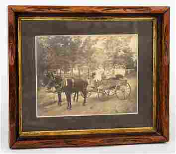 Early Photo of Wagon with Ladies