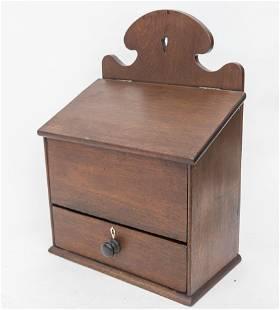 Fine Walnut Hanging Candle Box
