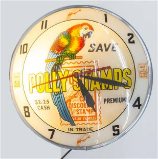 Double Bubble Polly Stamps Lighted Clock