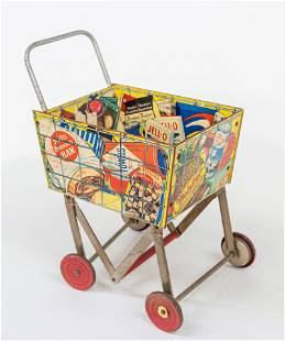 Childs Coca-Cola Grocery Cart