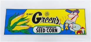 Green's Corn Seed Sign