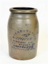 Rare Maysville, Ky. Decorated Stoneware Jar