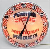 Double Bubble Purina Lighted Clock