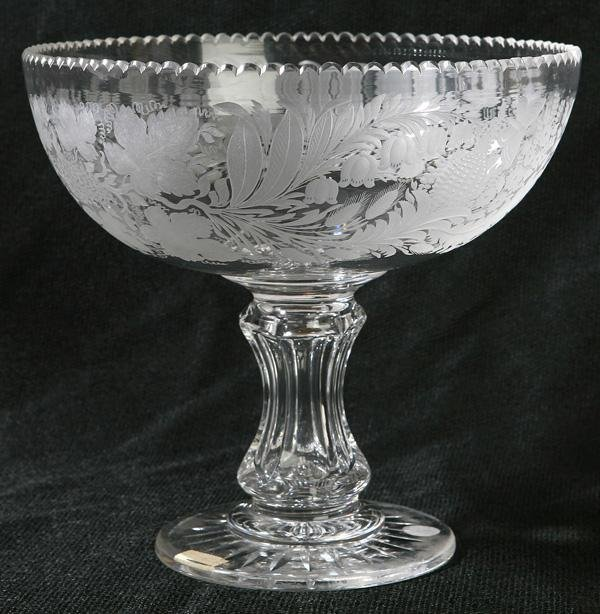 13: EARLY MIDWESTERN CUT GLASS COMPOTE