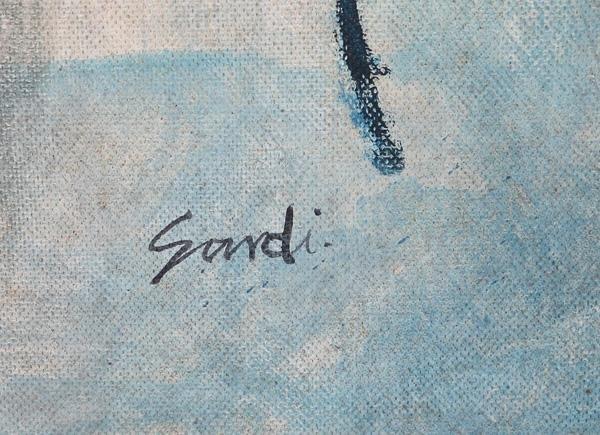 137: JEAN SARDI (FRANCE) ATTRIBUTION OIL PAINTING - 2