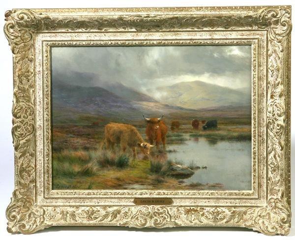 150: LOUIS BOSWORTH HURT (BRITISH) OIL PAINTING