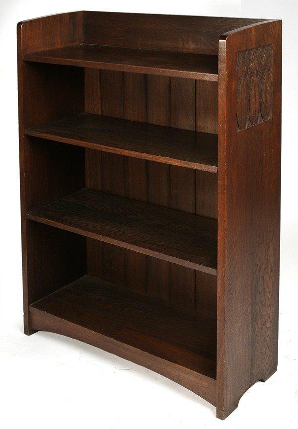 7: RARE EARLY L. & J.G. STICKLEY OPEN BOOKCASE