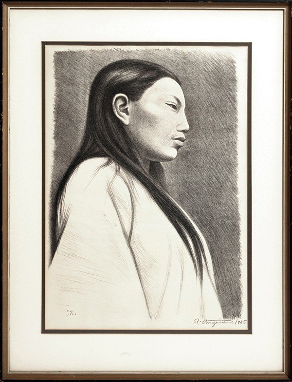 18: RAUL ANGUIANO (MEXICO) LITHOGRAPH