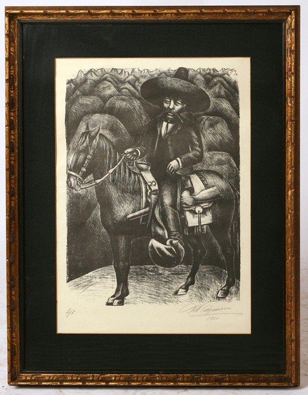 126: DAVID A. SIQUEIROS (MEXICAN) LITHOGRAPH