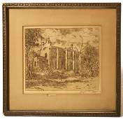 145 ET HURLEY ROOKWOOD ARTIST CINTI OH ETCHING