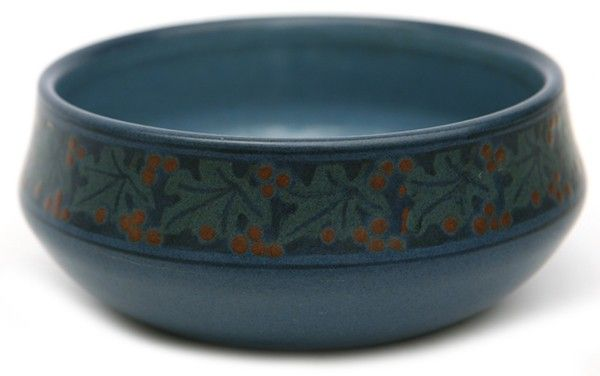 MARBLEHEAD DECORATED ART POTTERY BOWL