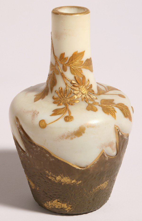 5: ATTRIBUTED SMITH BROS. ART GLASS VASE