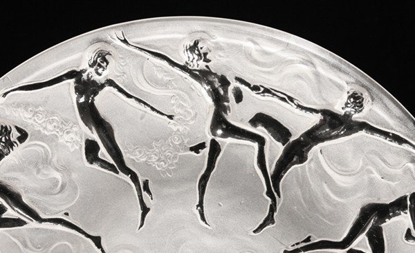 33: LALIQUE TYPE PLATE WITH DANCING NUDES - 3