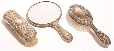 174: GORHAM REPOUSSE STERLING DRESSER BRUSHES