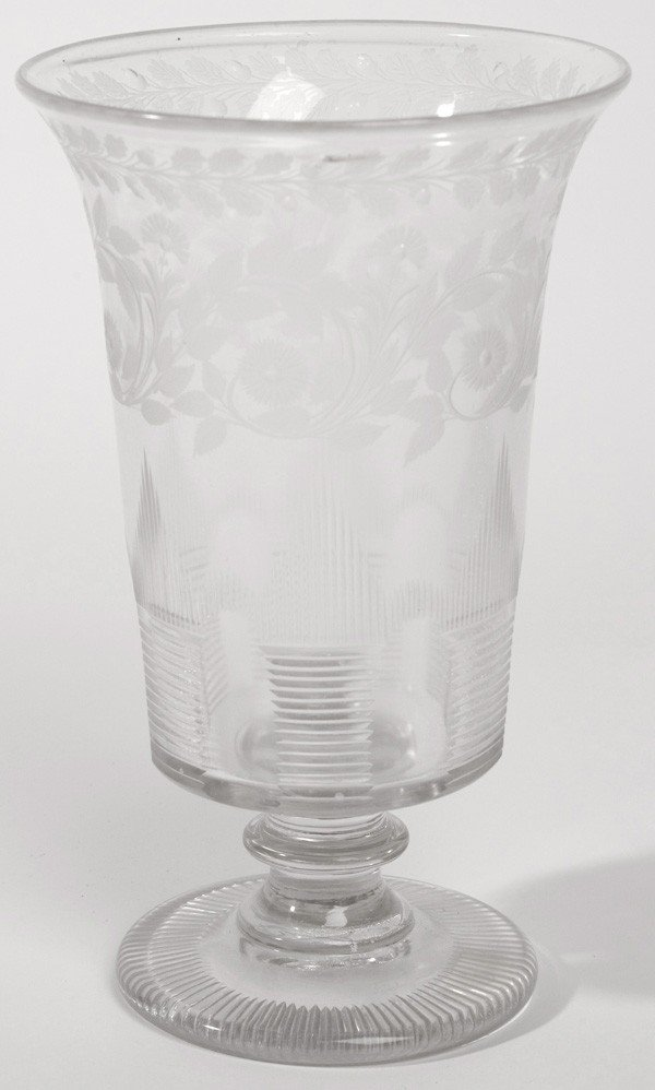 7: 19TH CENTURY CUT & ACID ETCHED GLASS VASE