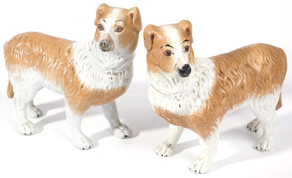 17: PAIR STANDING STAFFORDSHIRE COLLIES