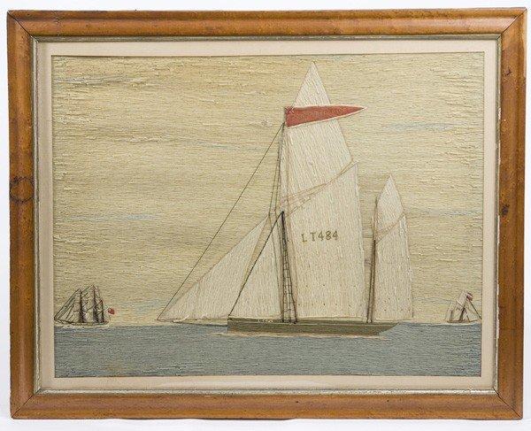 38: NEEDLEWORK WOOLIE OF ENGLISH SHIP JOHN FREDERICK