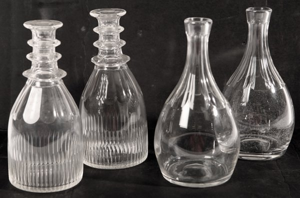 7: TWO PR. OF EARLY CUT GLASS DECANTERS