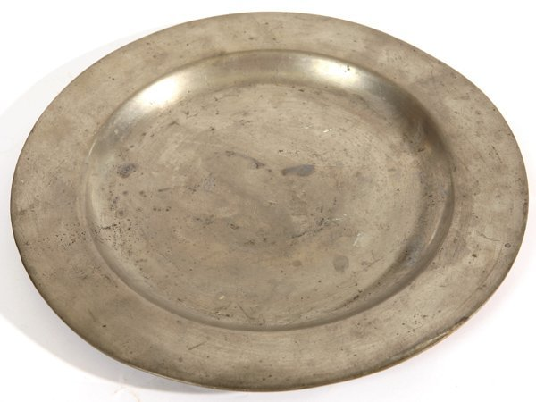 11: EARLY PEWTER CHARGER