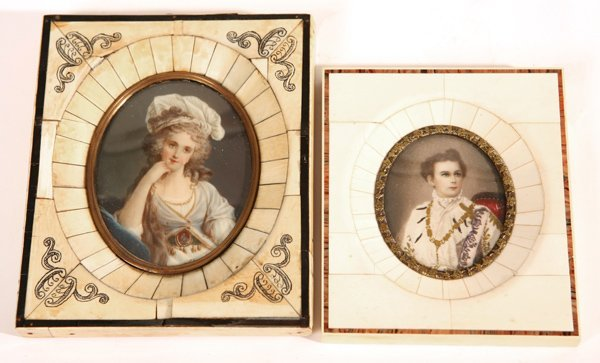 14: TWO MINIATURE PAINTINGS ON IVORY