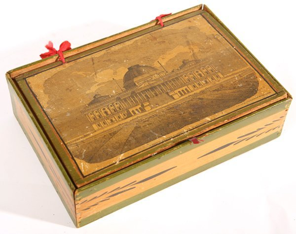 21: N.H. DECORATED BOX W/SCENE OF CAPITOL