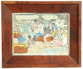 """THOMAS TEGG COLORED ETCHING - """"A MILLING MATCH"""""""