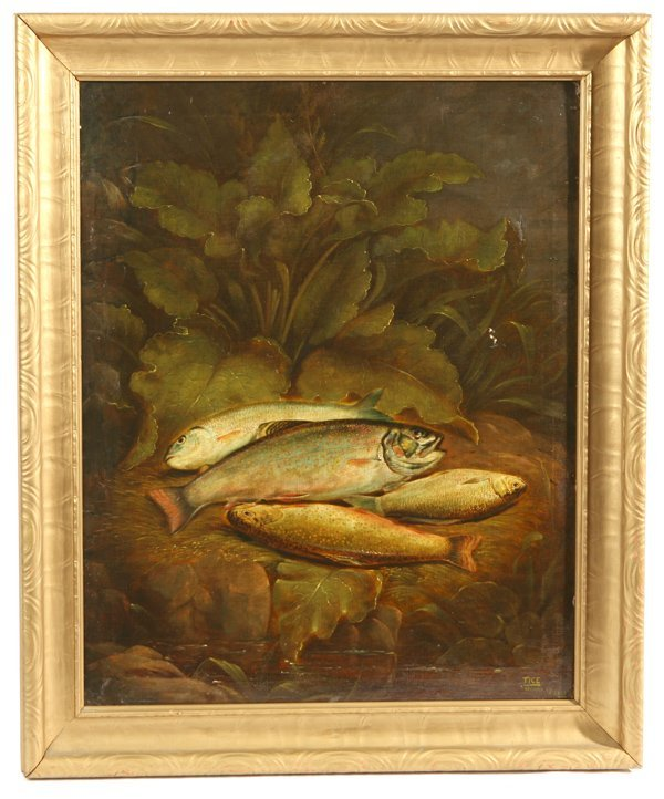 99: CHARLES W. TICE (NEW YORK) OIL PAINTING