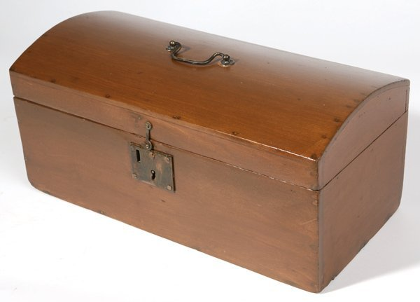 126: EARLY 19TH CENTURY CINCINNATI DOME TOP BOX