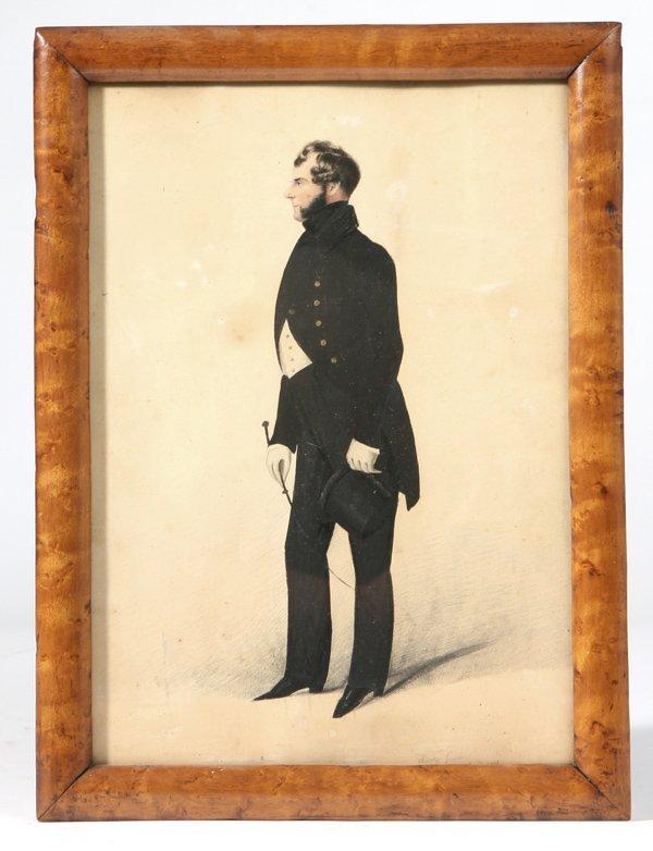 127: 1832 WATERCOLOR PORTRAIT BY HENRY GILBERT