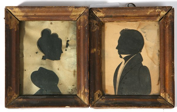 128: TWO EARLY SILHOUETTES, CIRCA 1834