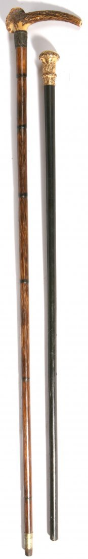 132: TWO ANTIQUE CANES