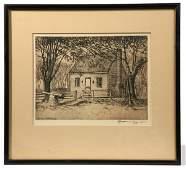 175 ET HURLEY ROOKWOOD ARTIST ETCHING