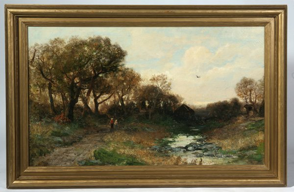 258: CHRISTOPHER HIGH SHEARER (PA.) OIL PAINTING