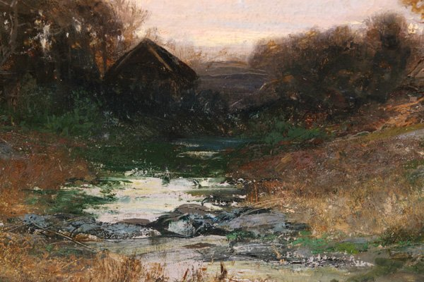 258: CHRISTOPHER HIGH SHEARER (PA.) OIL PAINTING - 4