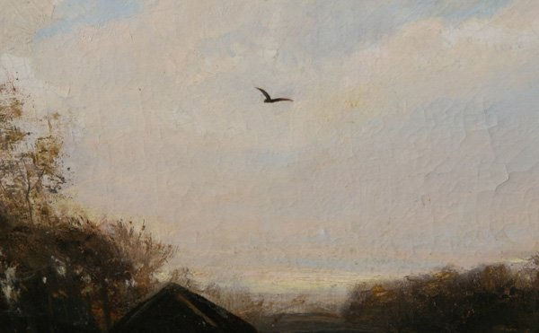 258: CHRISTOPHER HIGH SHEARER (PA.) OIL PAINTING - 5