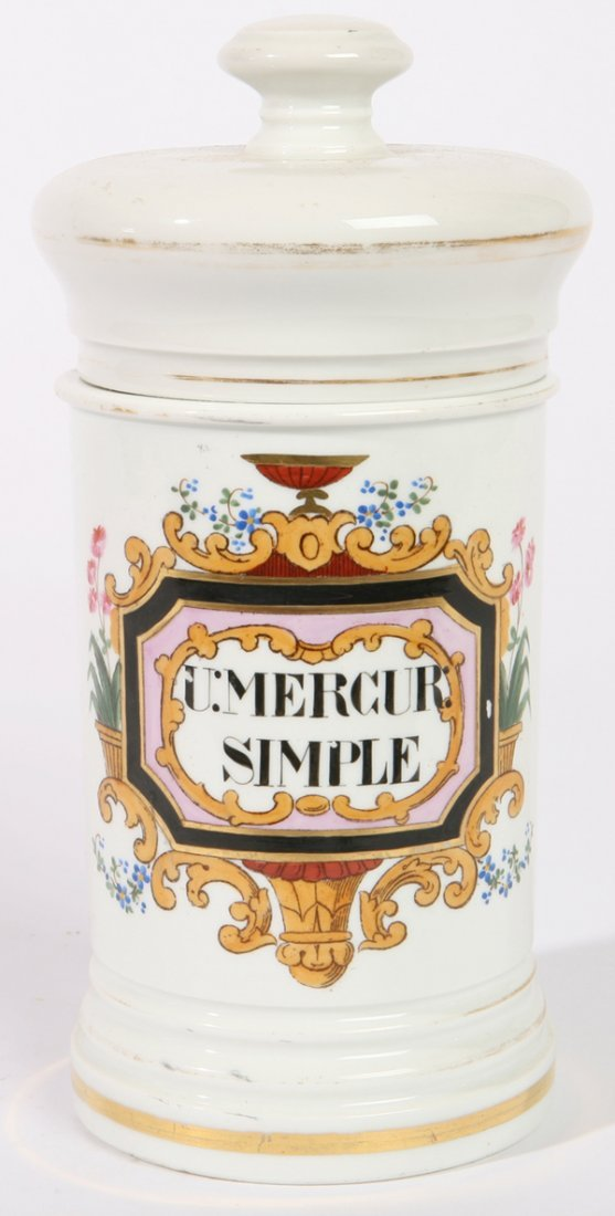 21: FRENCH PORCELAIN APOTHECARY JAR