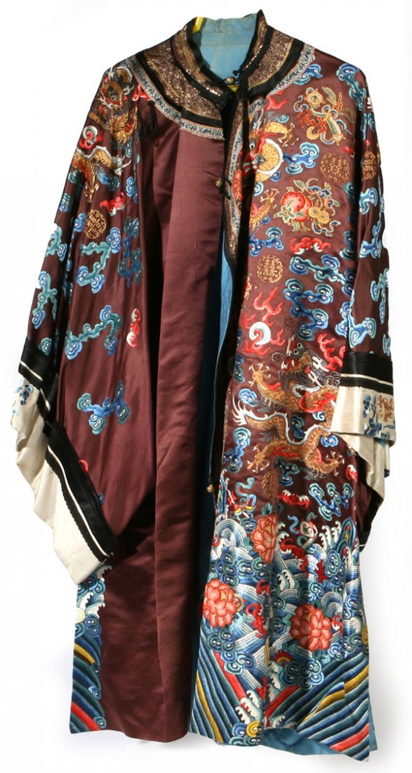 455: CHINESE IMPERIAL EMBROIDERED SILK ROBE