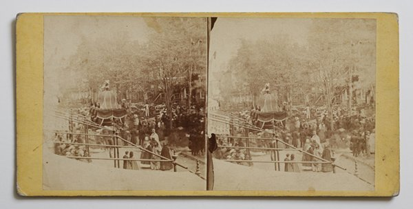 RARE STEREOVIEW OF LINCOLN'S FUNERAL PROCESSION PHILADE
