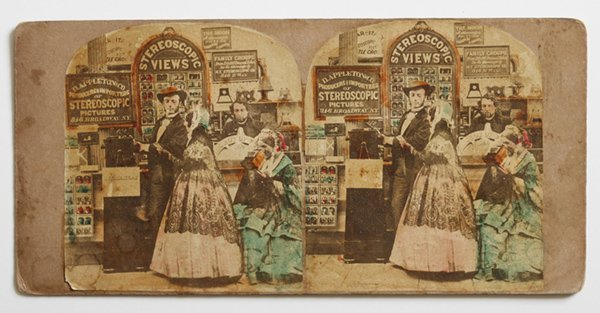 RARE STEREOVIEW OF APPLETON & CO. STEREO PHOTOGARPHERS