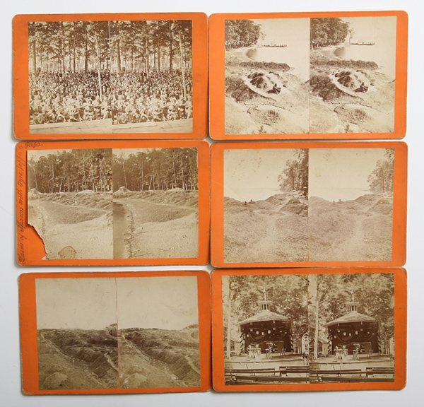 6 EARLY PALESTINE PARK ALBUMEN PHOTO STEREOVIEW